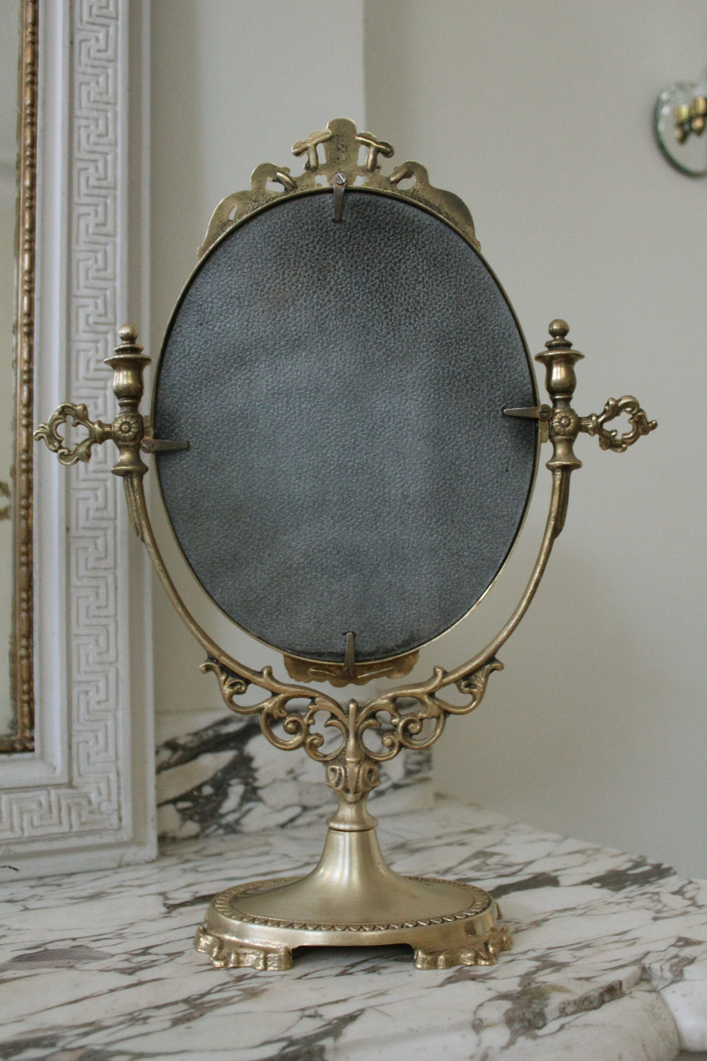 Brass Table Mirror French The French Antique Store