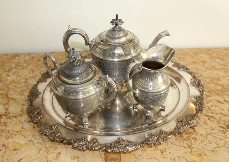 Silver plated French Tea Set : The French Antique Store