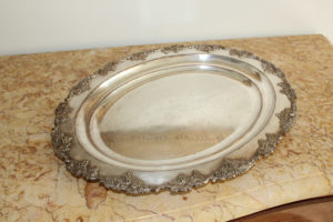 Silver Plated French Tray with Grapes : The French Antique Store