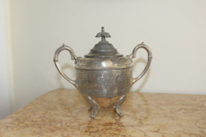 French Silver Plated Sugar Bowl : The French Antique Store