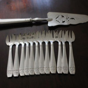 Antique French Desert Forks and Cake Slice : The French Antique Store