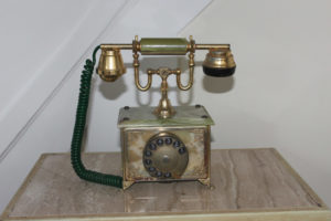 Italian Gold Plated Telephone : The French Antique Store