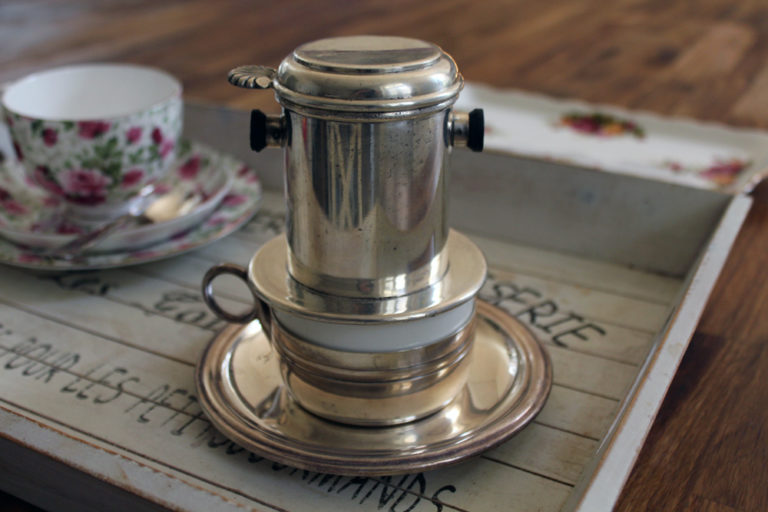 Silver Plated Dubelloire French Antique Coffee Cup Filter : The French Antique Store
