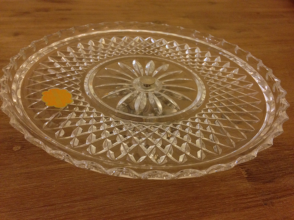 Crystal Cake Plate Metal Base  The French Antique Store & Crystal Cake plate with ornate silver base