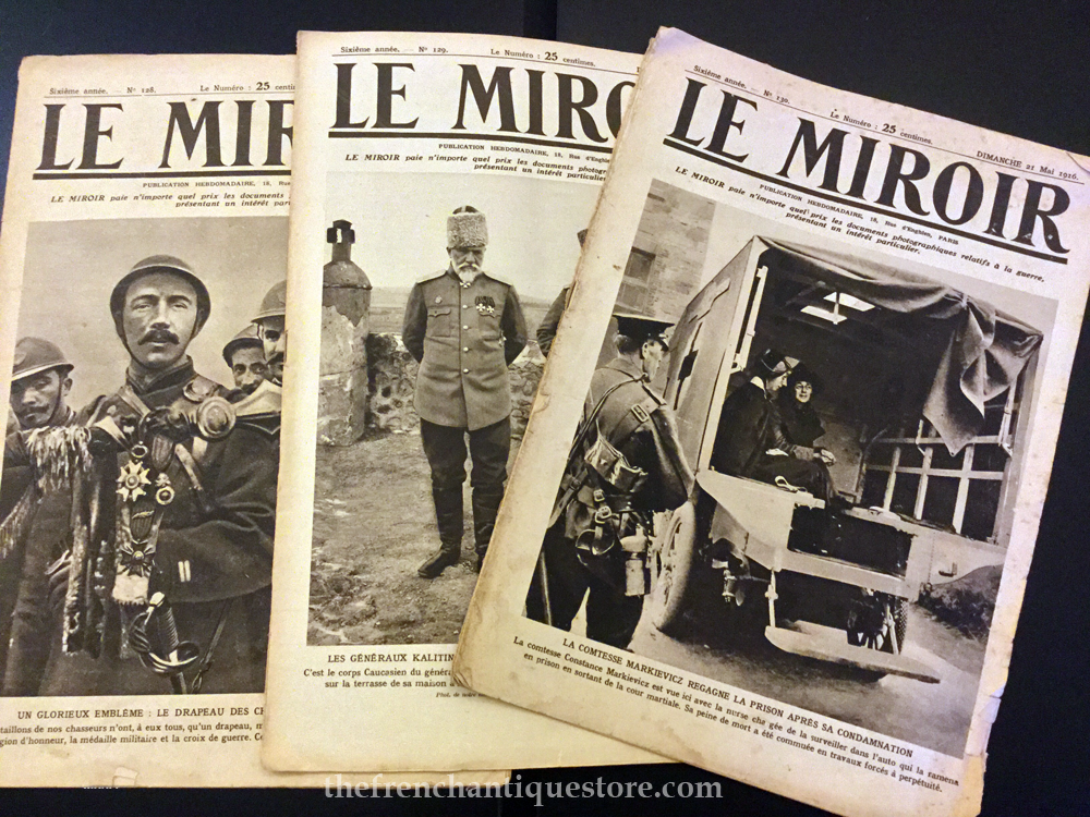 Easter rising 1916 original newspapers le miroir french for Miroir in french