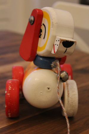 French pull along toy dog : The French Antique Store