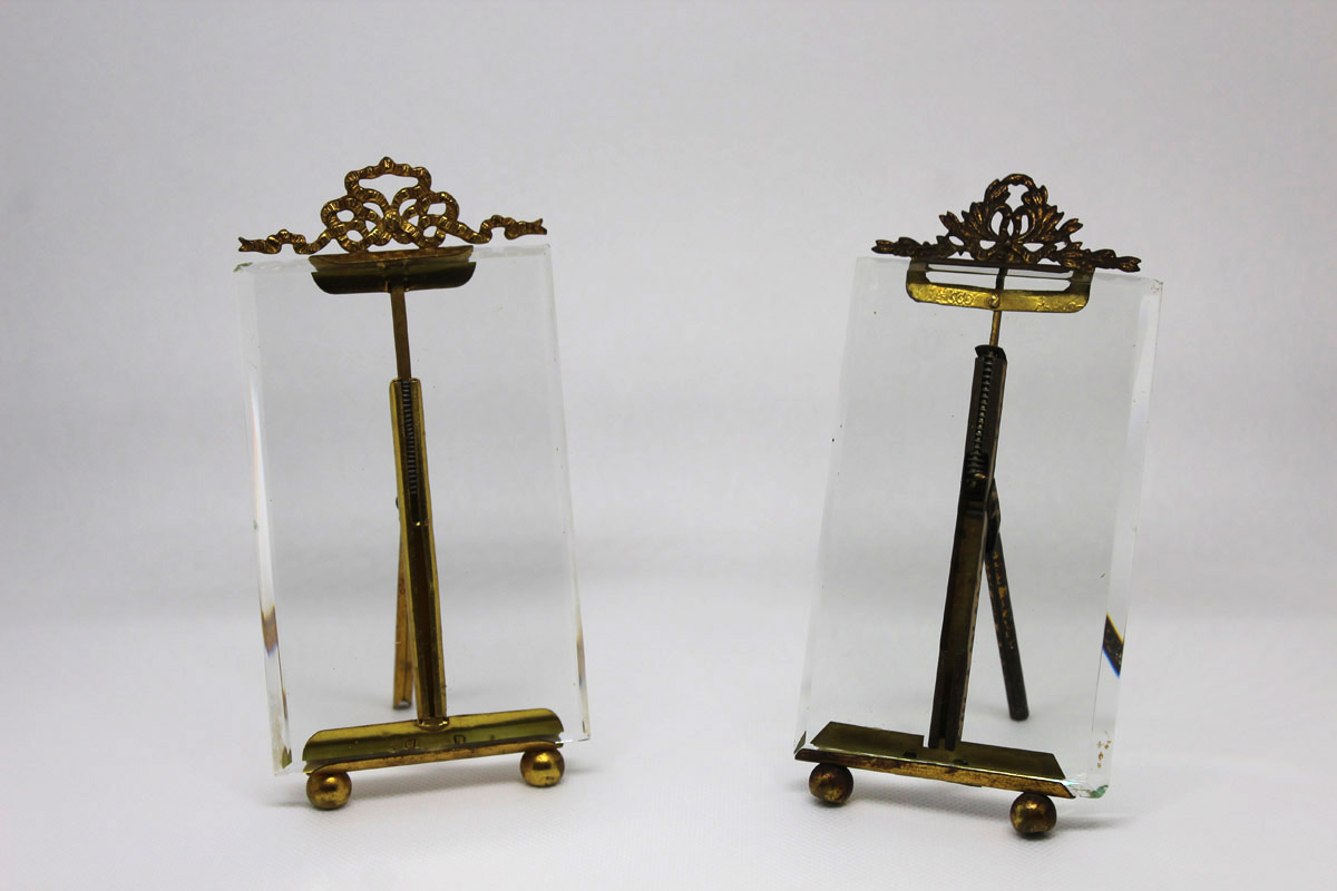 Early 19C French Photo Frames with Beveled Glass