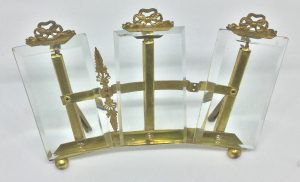 Classic Beveled Glass and brass French Photos 19C The French Antique Store