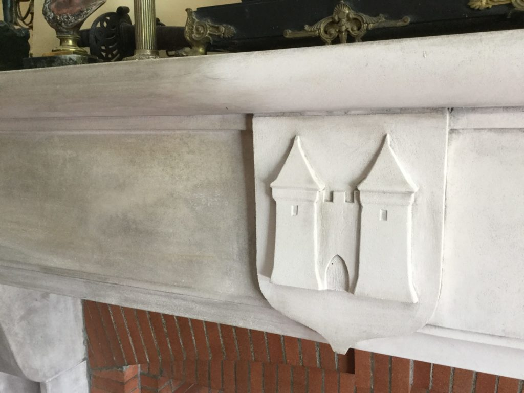 Cleaning an old Limestone Fireplace