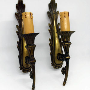 Pair of French Wall Sconce Brass The French Antique Store