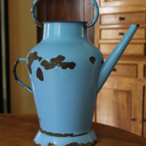 Enamel Watering Can Blue The French Antique Store
