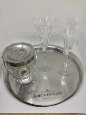 Moet & Chandon Champagne Serving Tray Metal The French Antique Store