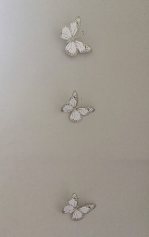 butterflies art installation wall decor 2