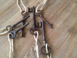 Old French Keys Set of 6 : The French Antique Store