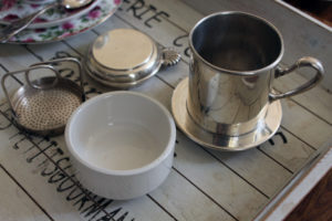 Silver Plated Dubelloire French Antique Coffee Cup Filter Ceramic : The French Antique Store