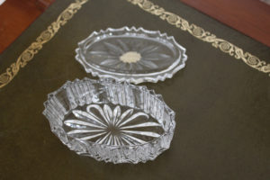 Crystal Trinket Bowl with lid : The French Antique Store