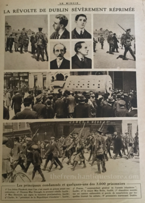 1916 Rising Newspaper France : The French Antique Store