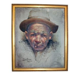 Jose Galvan 1974 Oil Painting Paris Vagabond