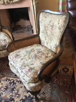 20th C French Bergere Suite Caned Suite Original Tapestry Upholstery 4