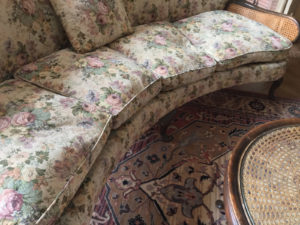 20th C French Bergere Suite Caned Suite Original Tapestry Upholstery 7