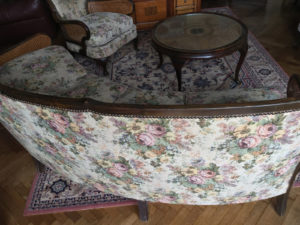 20th C French Bergere Suite Caned Suite Original Tapestry Upholstery 8