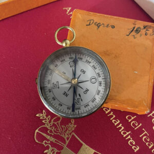 1938 French Compass degrees brass pocket 1