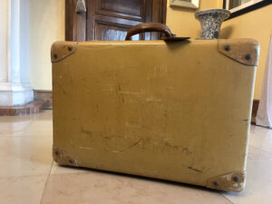 1940s Vintage Suitcase Constellation fibre vulcanisee - the french antique store 2