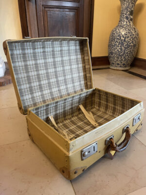 1940s Vintage Suitcase Constellation fibre vulcanisee - the french antique store 5