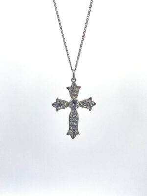 Antique French Silver Paste Cross - the french antique store 2