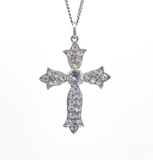 Antique French Silver Paste Cross - the french antique store 3
