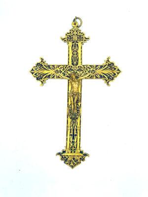 Art Nouveau French religious cross crucifix 3 french antique store