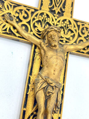 Art Nouveau French religious cross crucifix 5 french antique store