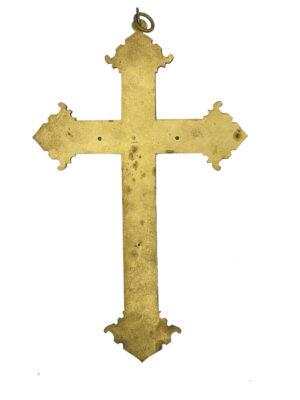 Art Nouveau French religious cross crucifix 7 french antique store