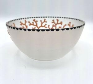 Coralene Bowl 1925 Goldberg Bohemian Glass Antique 2