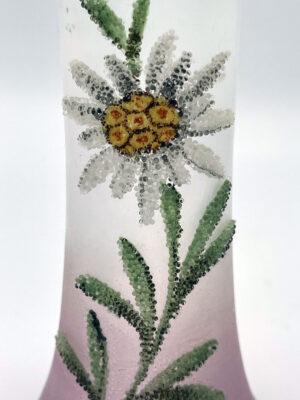 Coralene Bud Vase 1920s Flower Glass Antique 2