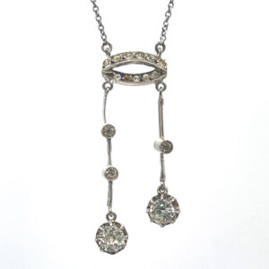 French Silver Paste Negligee Necklace 1920s 3