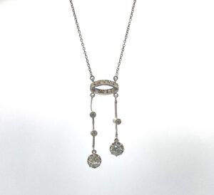 French Silver Paste Negligee Necklace 1920s The French Antique Store