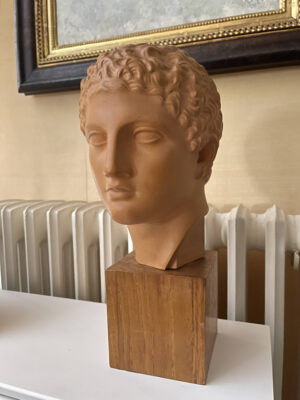 Terracotta Bust Roman Head Male 1920s French 1