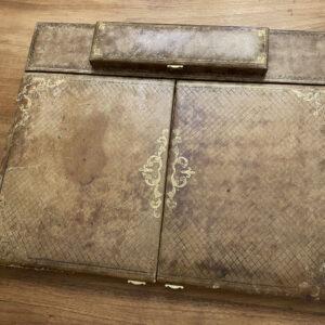 Vintage desk blotter French embossed pen box 1