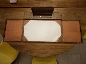 Vintage desk blotter French embossed pen box 2