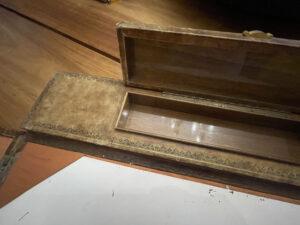Vintage desk blotter French embossed pen box 3