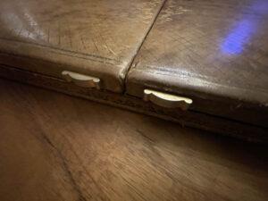 Vintage desk blotter French embossed pen box 7