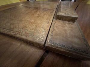 Vintage desk blotter French embossed pen box 8